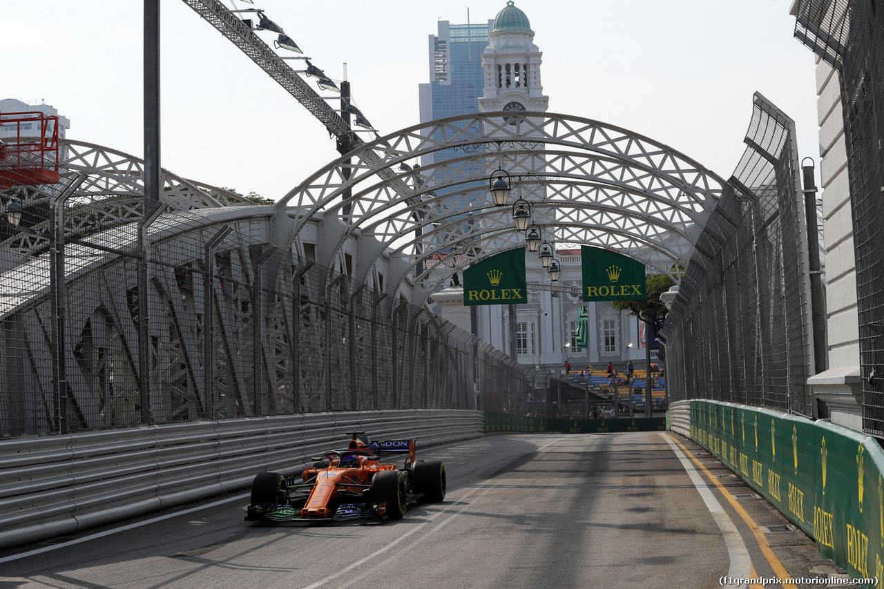 GP SINGAPORE, 14.09.2018 - Prove Libere 1, Fernando Alonso (ESP) McLaren MCL33