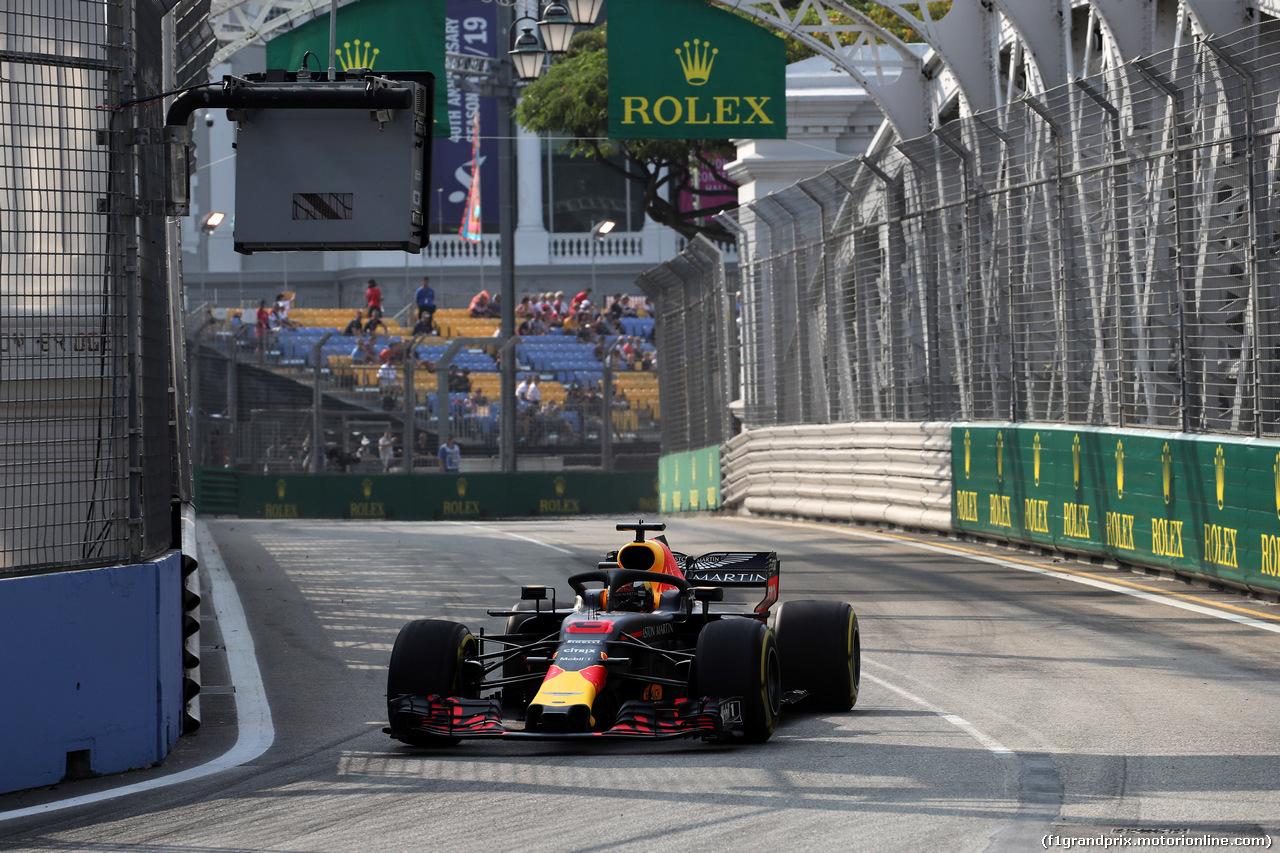 GP SINGAPORE, 14.09.2018 - Prove Libere 1, Daniel Ricciardo (AUS) Red Bull Racing RB14