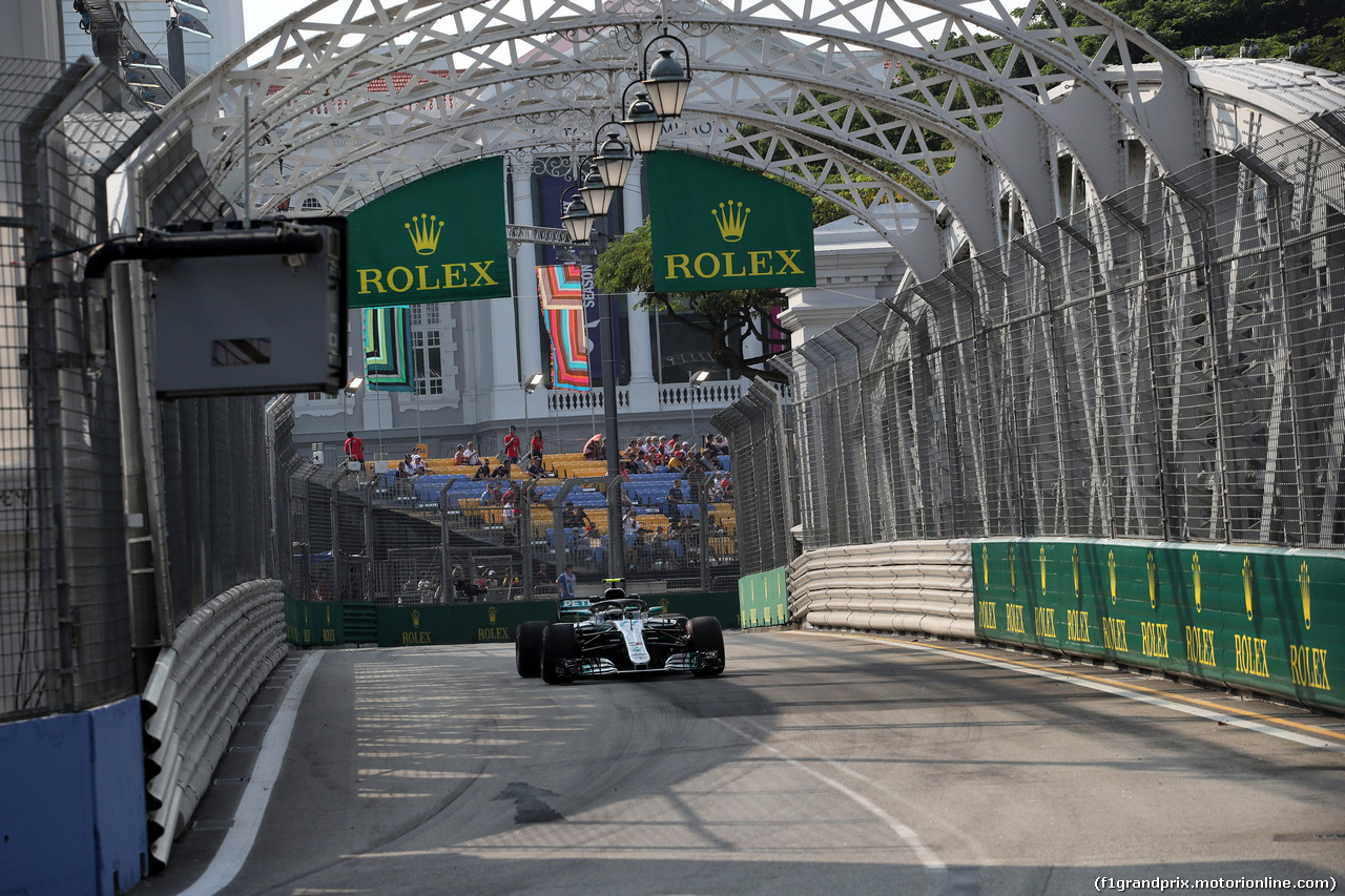 GP SINGAPORE, 14.09.2018 - Prove Libere 1, Valtteri Bottas (FIN) Mercedes AMG F1 W09