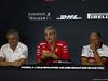 GP SINGAPORE, 14.09.2018 - Conferenza Stampa, Gil de Ferran (BRA) McLaren Sporting Director, Maurizio Arrivabene (ITA) Ferrari Team Principal e Frederic Vasseur (FRA) Sauber Team Principal
