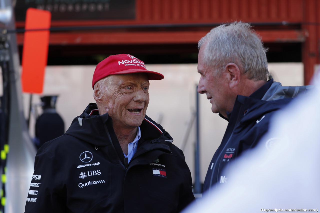 GP SPAGNA, 13.05.2018 - Gara, Nikki Lauda (AU), Mercedes e Helmut Marko (AUT), Red Bull Racing, Red Bull Advisor