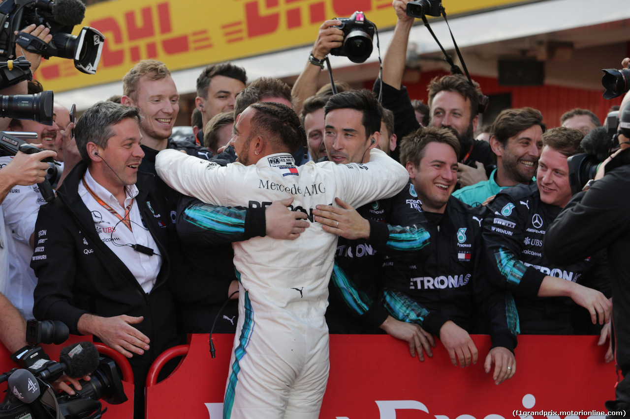 GP SPAGNA, 13.05.2018 - Gara, Lewis Hamilton (GBR) Mercedes AMG F1 W09 vincitore