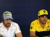 GP SPAGNA, 10.05.2018 - Conferenza Stampa, Fernando Alonso (ESP) McLaren MCL33 e Carlos Sainz Jr (ESP) Renault Sport F1 Team RS18