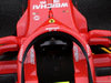GP SPAGNA, 10.05.2018 - An Ferrari SF71H with wing mirrors on the Halo cockpit cover.