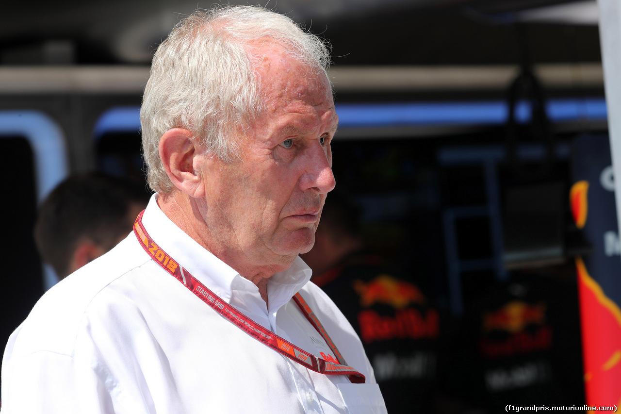 GP UNGHERIA, 29.07.2018 - Gara, Helmut Marko (AUT), Red Bull Racing, Red Bull Advisor