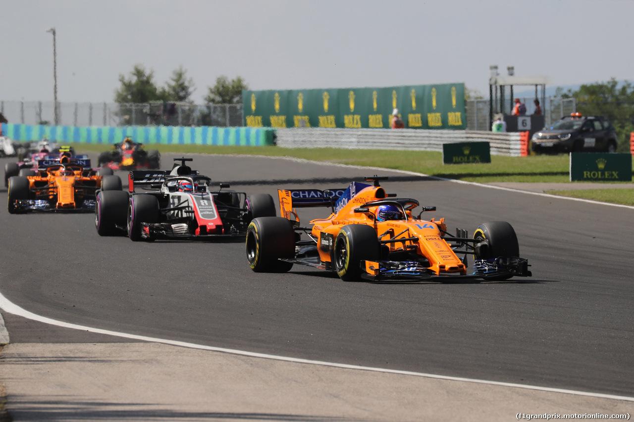 GP UNGHERIA, 29.07.2018 - Gara, Fernando Alonso (ESP) McLaren MCL33
