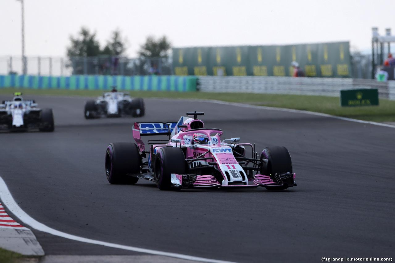 GP UNGHERIA, 29.07.2018 - Gara, Sergio Perez (MEX) Sahara Force India F1 VJM011