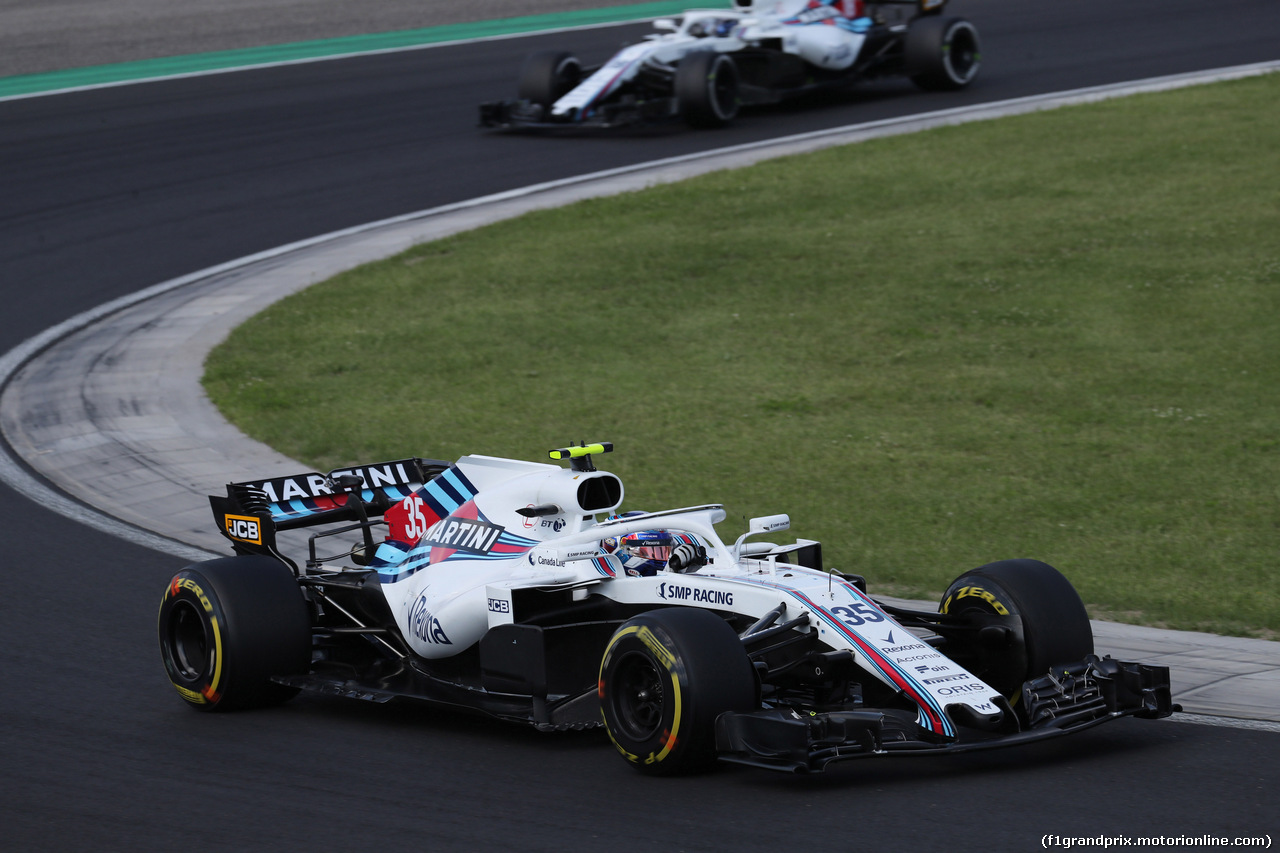 GP UNGHERIA, 29.07.2018 - Gara, Sergey Sirotkin (RUS) Williams FW41