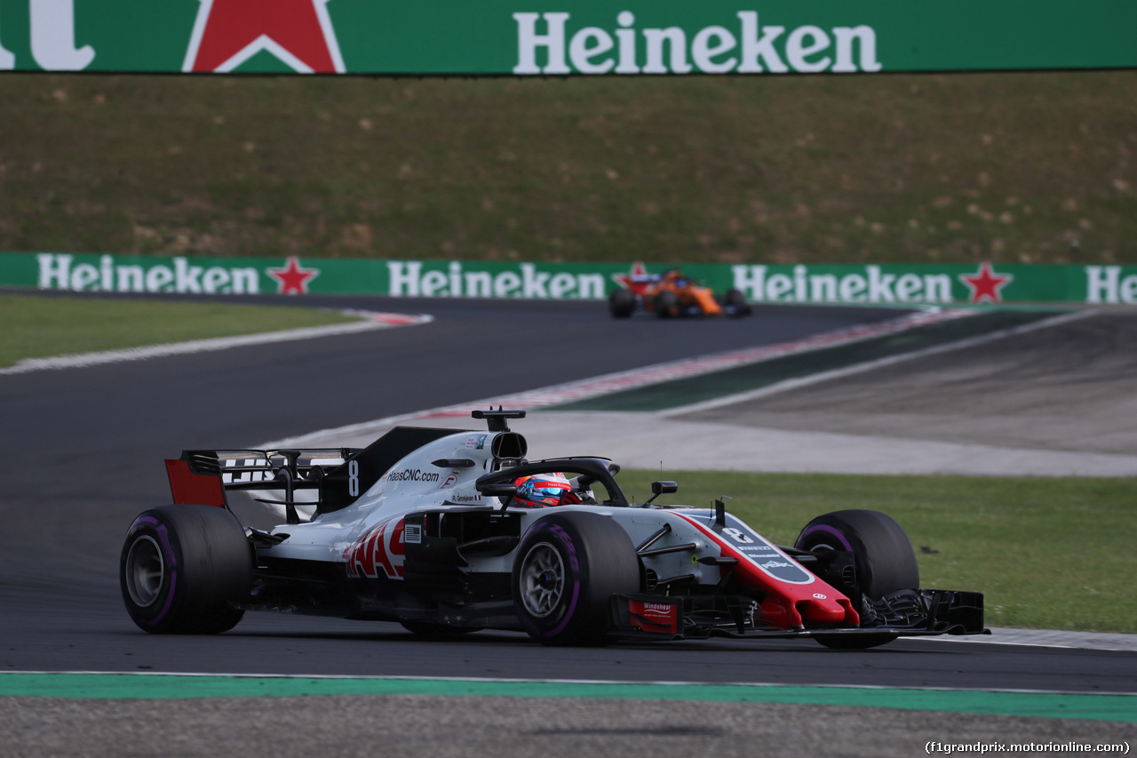 GP UNGHERIA, 29.07.2018 - Gara, Romain Grosjean (FRA) Haas F1 Team VF-18