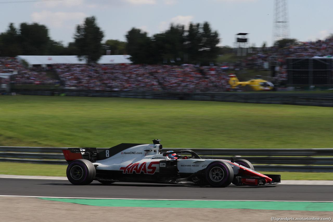 GP UNGHERIA, 29.07.2018 - Gara, Romain Grosjean (FRA) Haas F1 Team VF-18