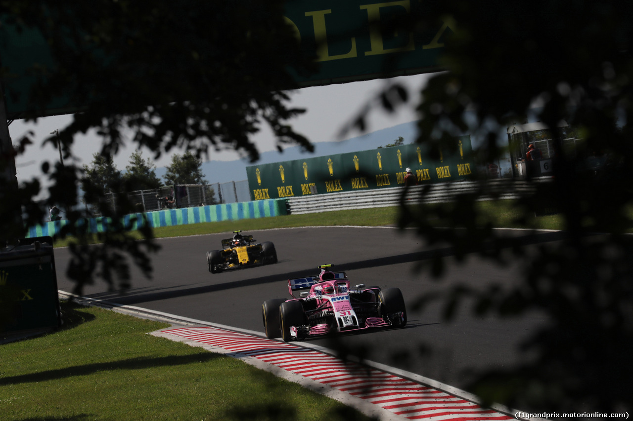 GP UNGHERIA, 29.07.2018 - Gara, Esteban Ocon (FRA) Sahara Force India F1 VJM11