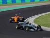 GP UNGHERIA, 29.07.2018 - Gara, Valtteri Bottas (FIN) Mercedes AMG F1 W09 davanti a Fernando Alonso (ESP) McLaren MCL33