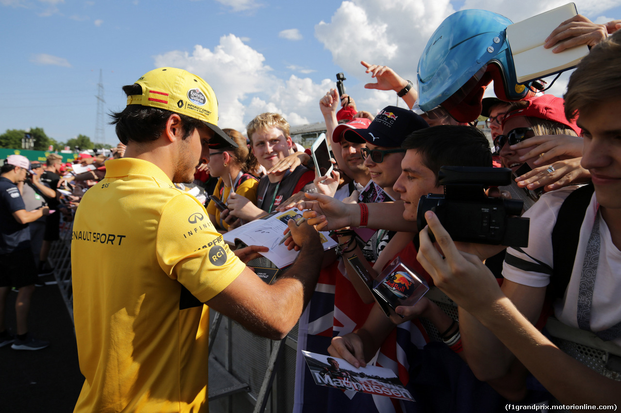GP UNGHERIA, 26.07.2018 - Autograph session, Carlos Sainz Jr (ESP) Renault Sport F1 Team RS18