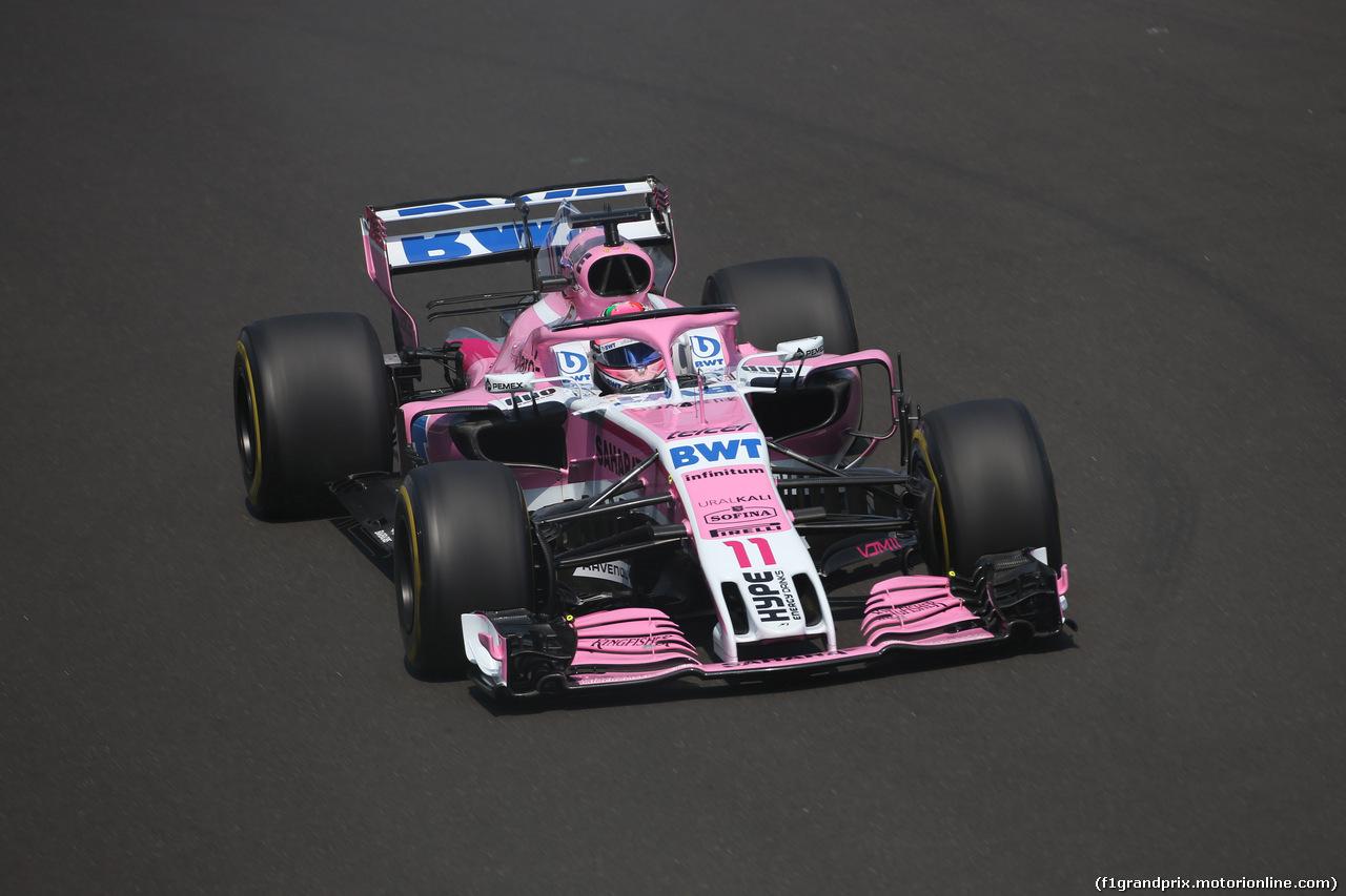 GP UNGHERIA, 27.07.2018 - Prove Libere 1, Sergio Perez (MEX) Sahara Force India F1 VJM011