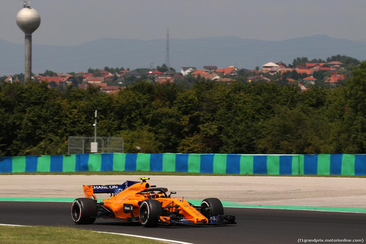 GP UNGHERIA, 27.07.2018 - Prove Libere 1, Stoffel Vandoorne (BEL) McLaren MCL33