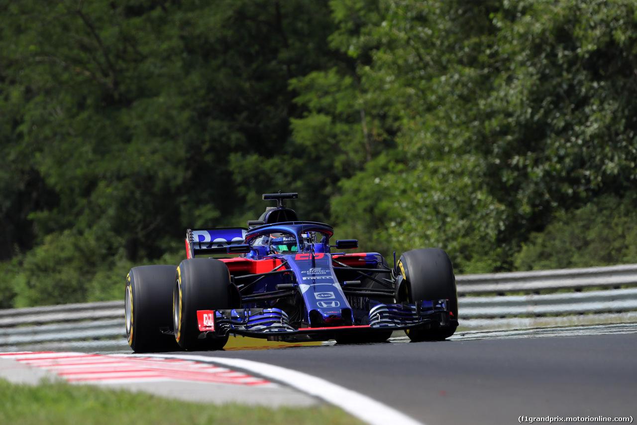 GP UNGHERIA, 27.07.2018 - Prove Libere 1, Brendon Hartley (NZL) Scuderia Toro Rosso STR13