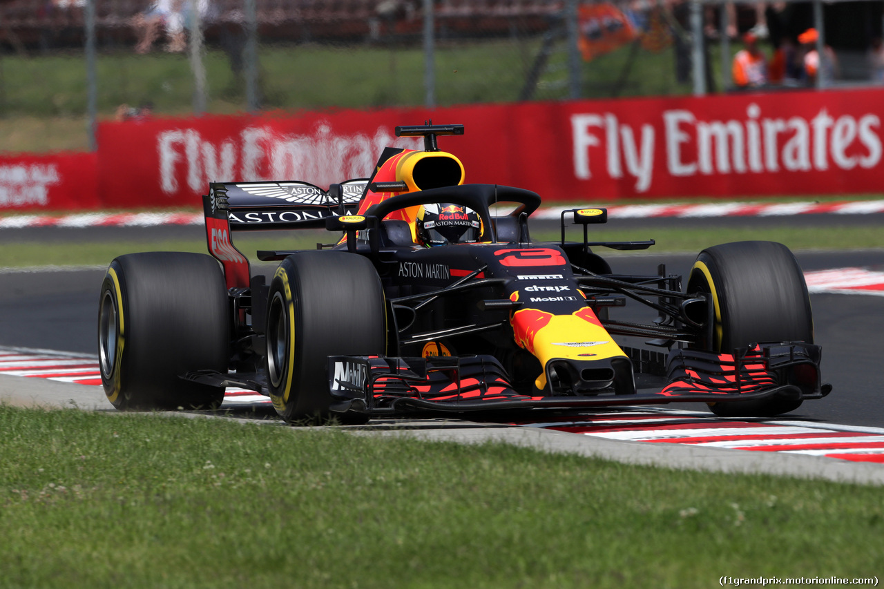 GP UNGHERIA, 27.07.2018 - Prove Libere 1, Daniel Ricciardo (AUS) Red Bull Racing RB14