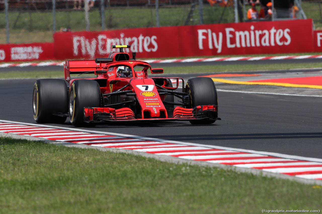 GP UNGHERIA, 27.07.2018 - Prove Libere 1, Kimi Raikkonen (FIN) Ferrari SF71H