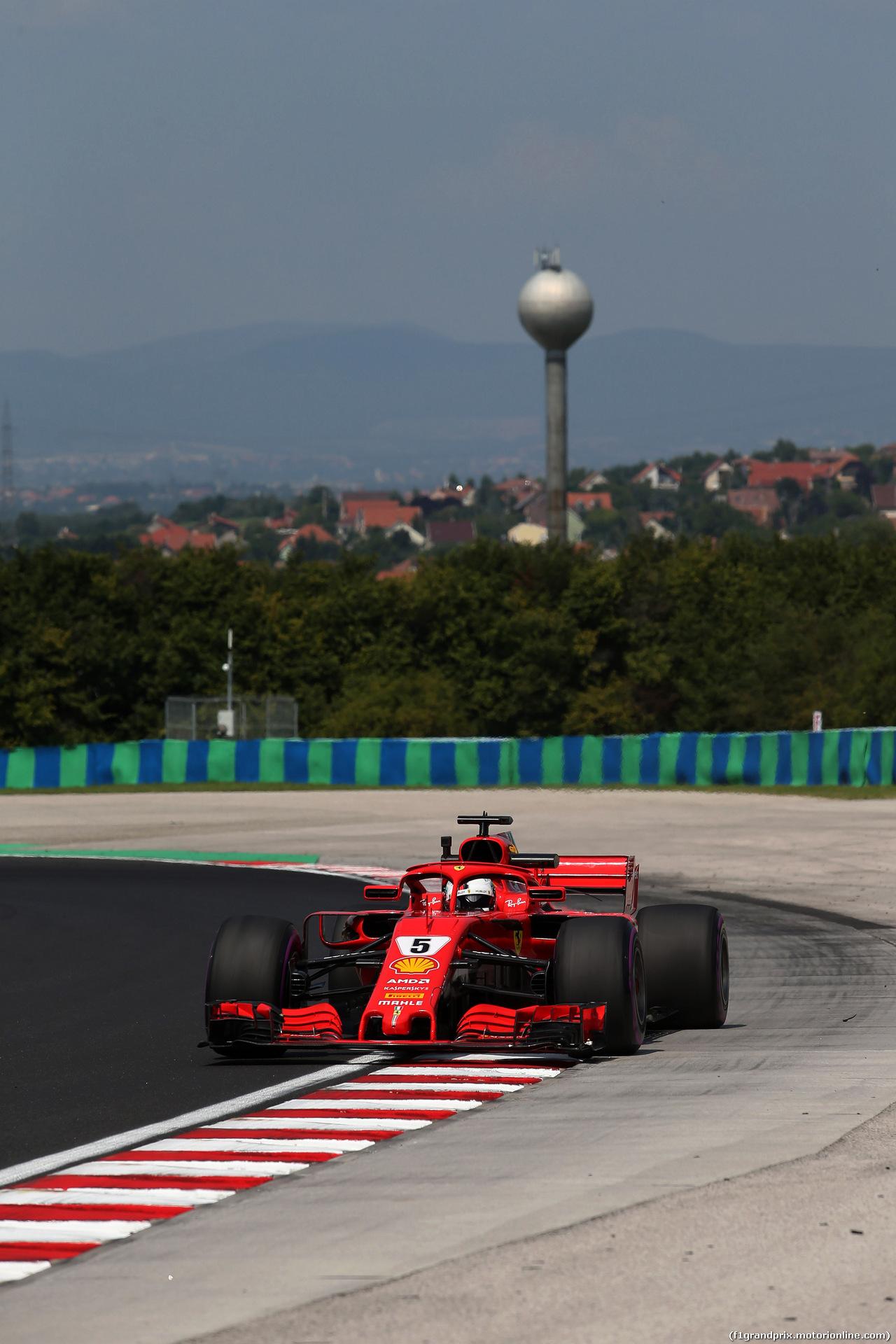 GP UNGHERIA, 27.07.2018 - Prove Libere 1, Sebastian Vettel (GER) Ferrari SF71H