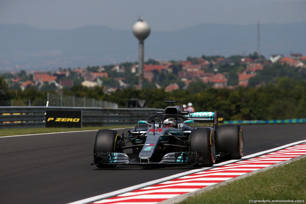GP UNGHERIA, 27.07.2018 - Prove Libere 1, Lewis Hamilton (GBR) Mercedes AMG F1 W09