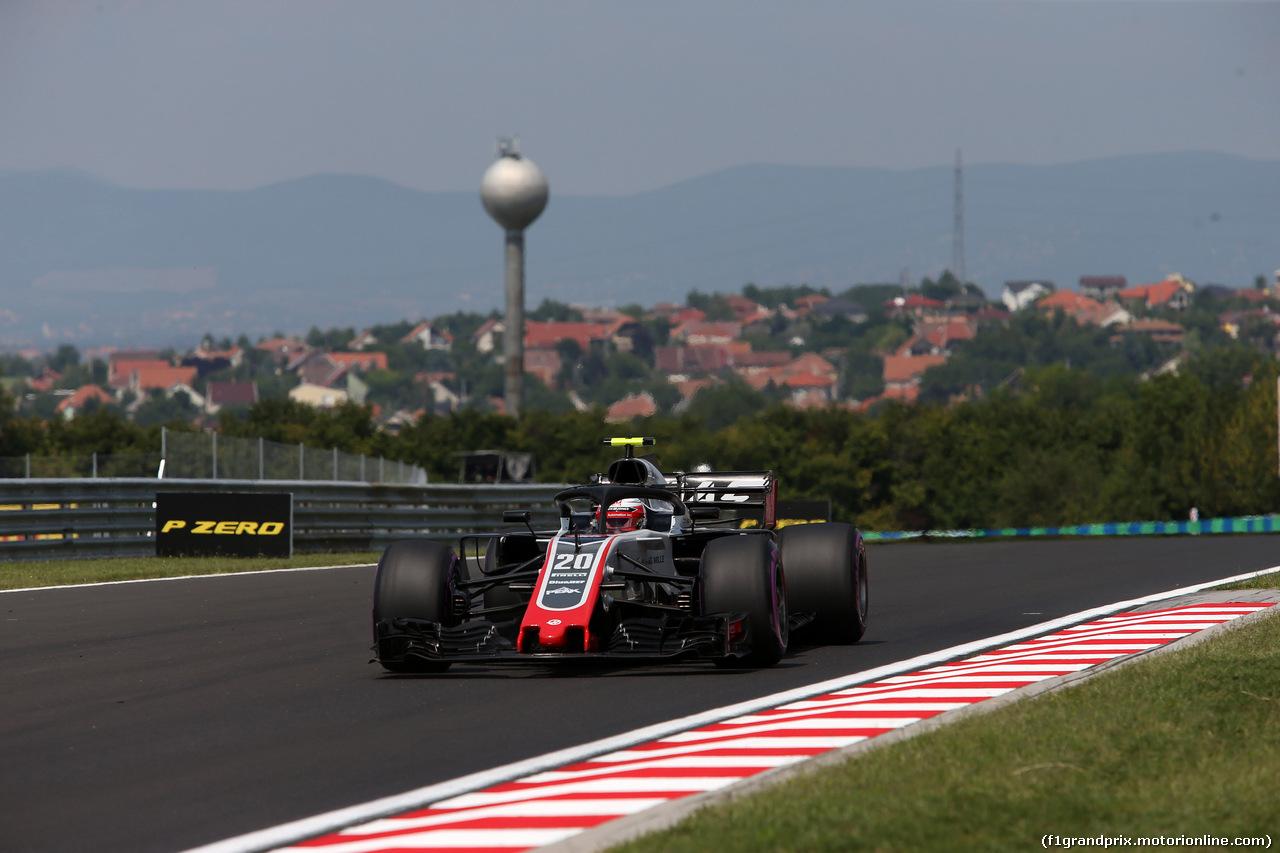 GP UNGHERIA, 27.07.2018 - Prove Libere 1, Kevin Magnussen (DEN) Haas F1 Team VF-18