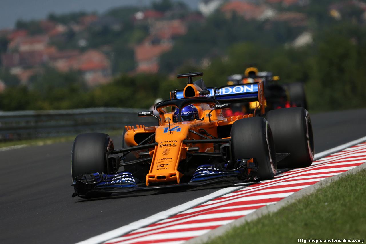 GP UNGHERIA, 27.07.2018 - Prove Libere 1, Fernando Alonso (ESP) McLaren MCL33