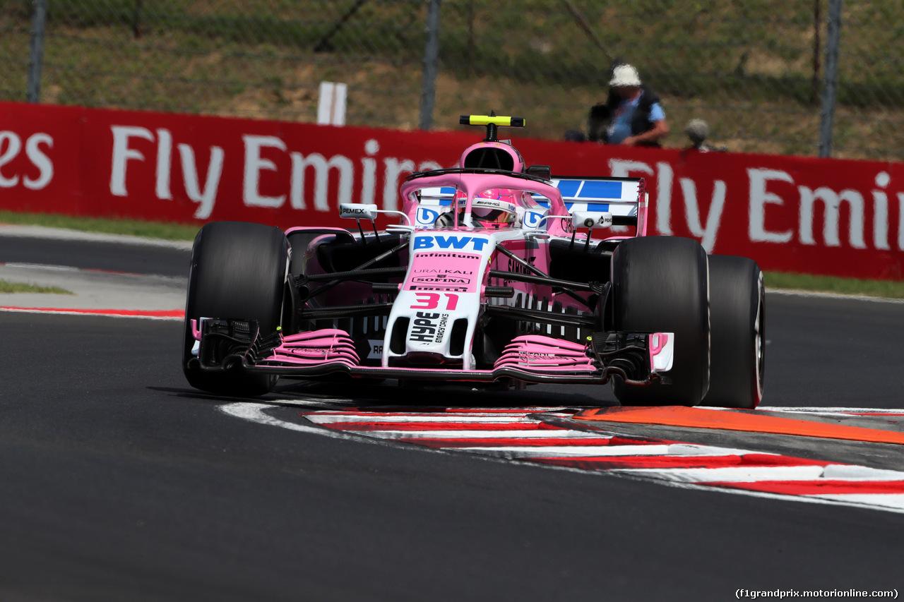 GP UNGHERIA, 27.07.2018 - Prove Libere 1, Esteban Ocon (FRA) Sahara Force India F1 VJM11
