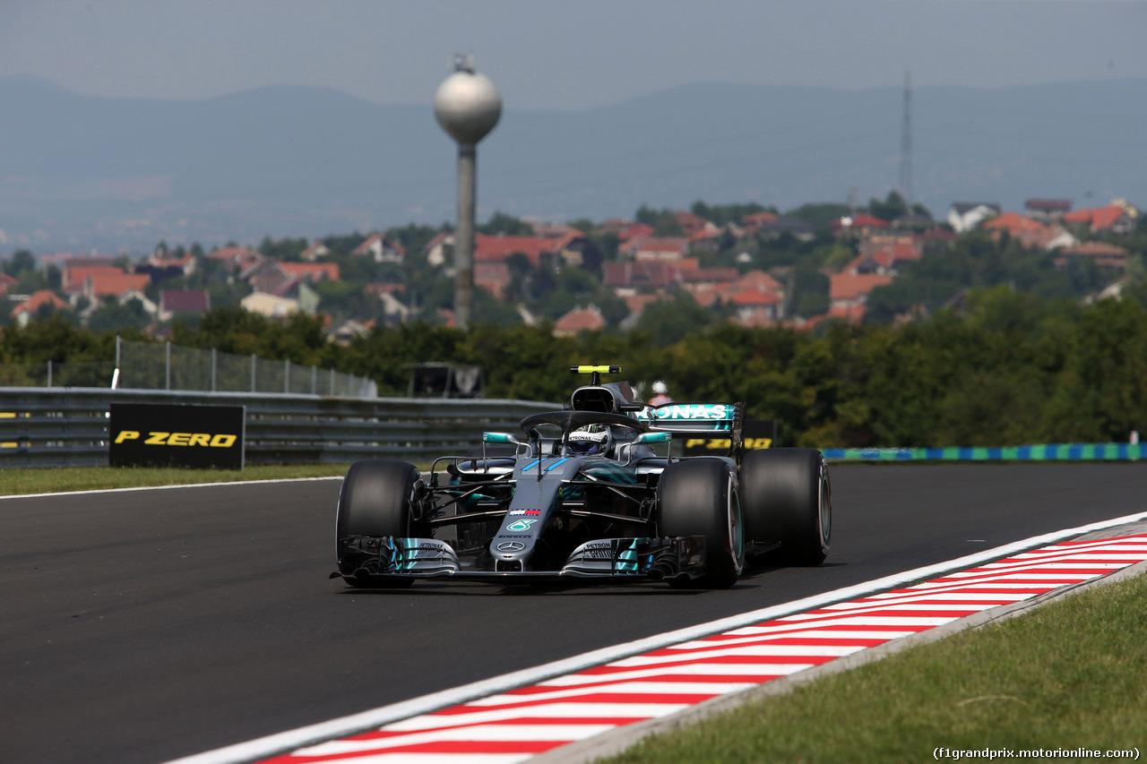 GP UNGHERIA, 27.07.2018 - Prove Libere 1, Valtteri Bottas (FIN) Mercedes AMG F1 W09