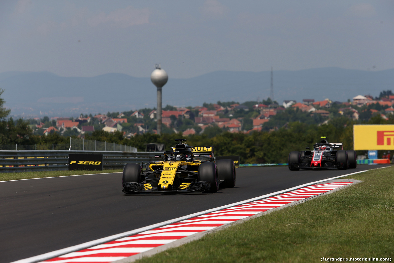 GP UNGHERIA, 27.07.2018 - Prove Libere 1, Nico Hulkenberg (GER) Renault Sport F1 Team RS18