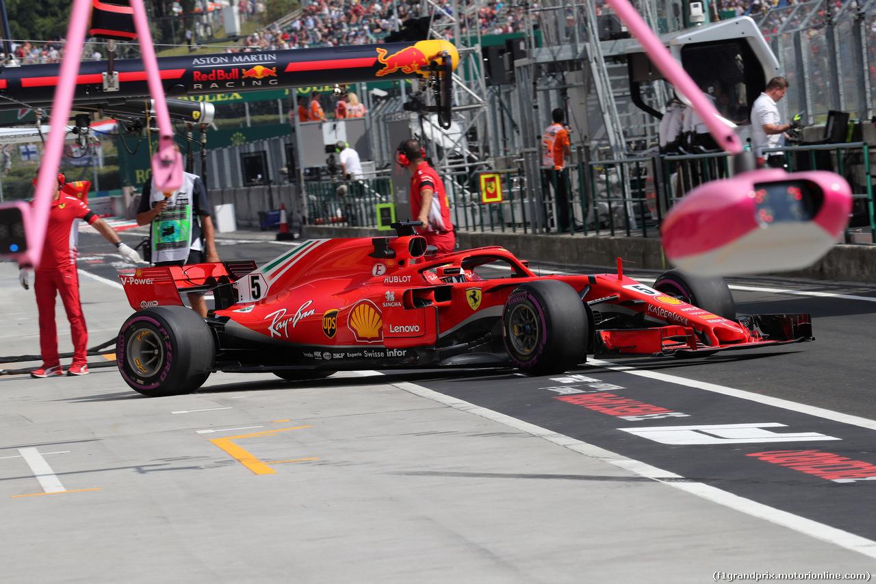 GP UNGHERIA, 27.07.2018 - Prove Libere 2, Sebastian Vettel (GER) Ferrari SF71H