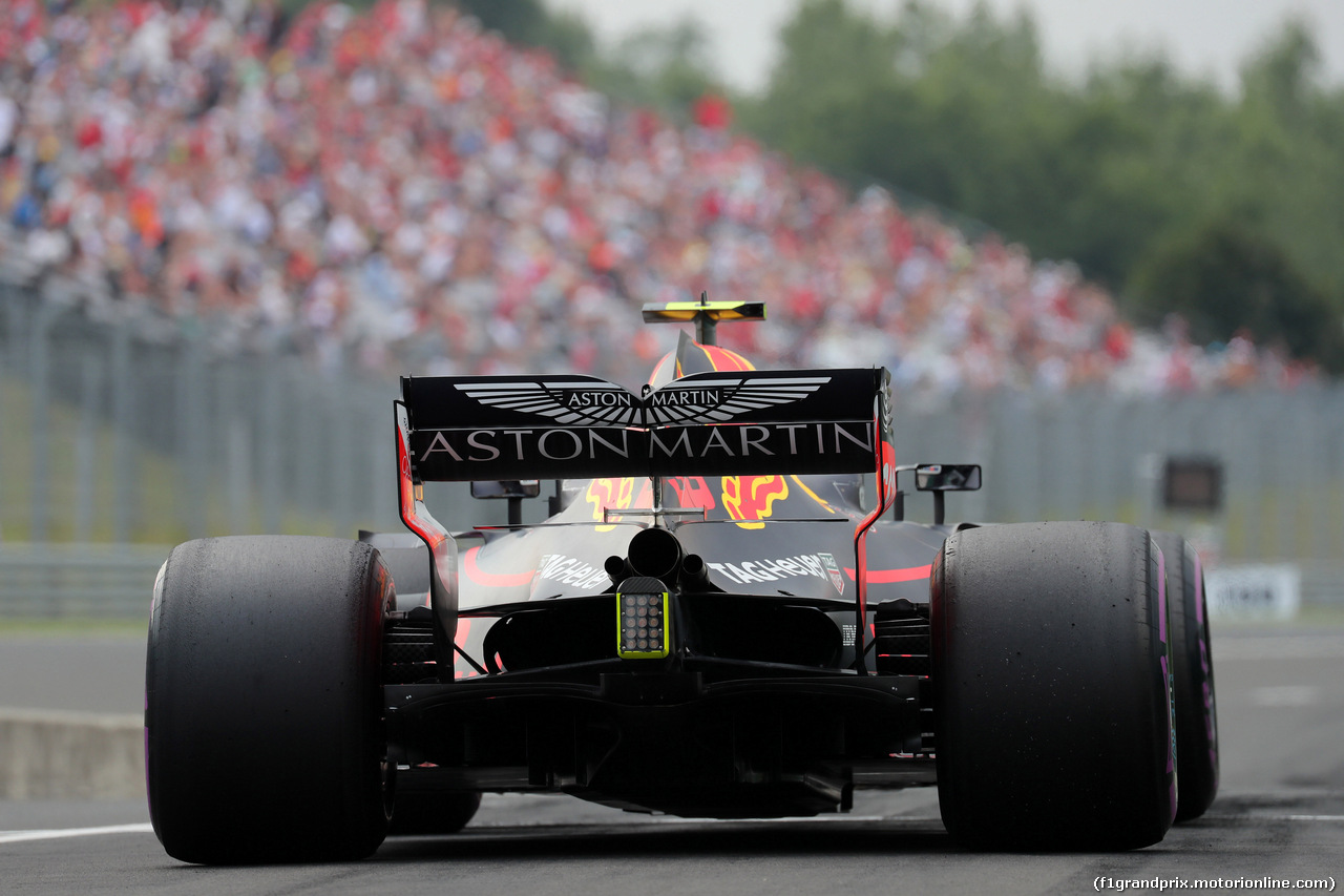 GP UNGHERIA, 27.07.2018 - Prove Libere 2, Max Verstappen (NED) Red Bull Racing RB14