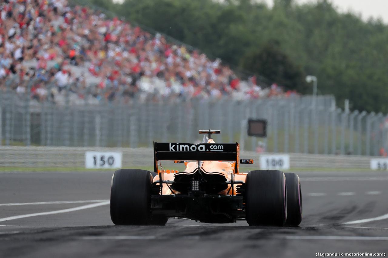 GP UNGHERIA, 27.07.2018 - Prove Libere 2, Fernando Alonso (ESP) McLaren MCL33