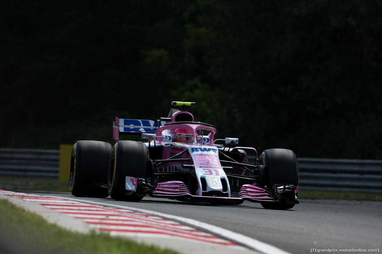 GP UNGHERIA, 27.07.2018 - Prove Libere 2, Esteban Ocon (FRA) Sahara Force India F1 VJM11