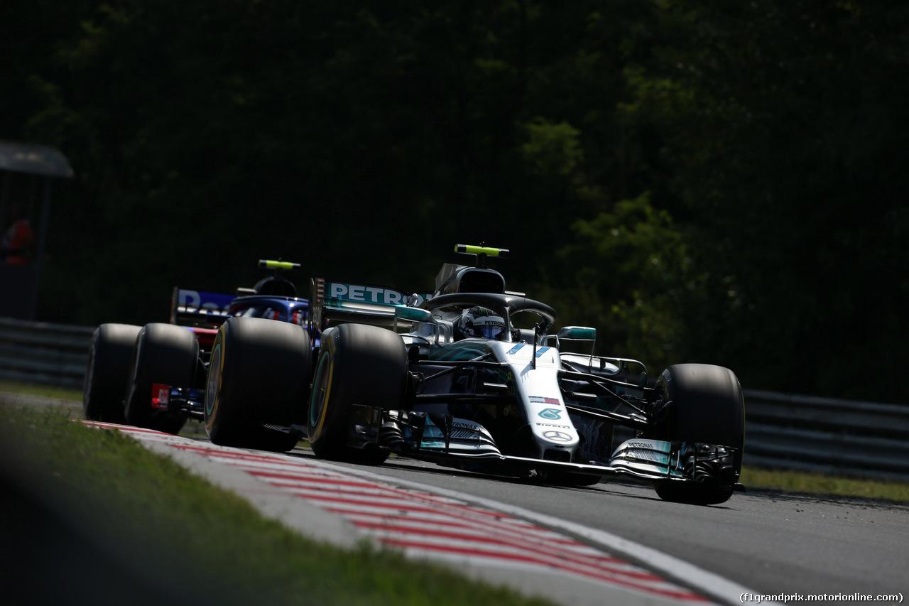 GP UNGHERIA, 27.07.2018 - Prove Libere 2, Valtteri Bottas (FIN) Mercedes AMG F1 W09