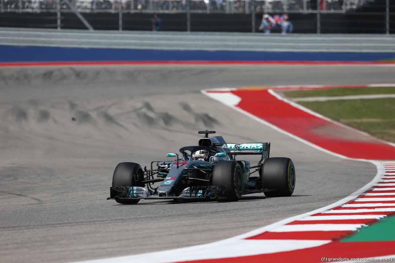 GP USA, 21.10.2018- Gara, Lewis Hamilton (GBR) Mercedes AMG F1 W09