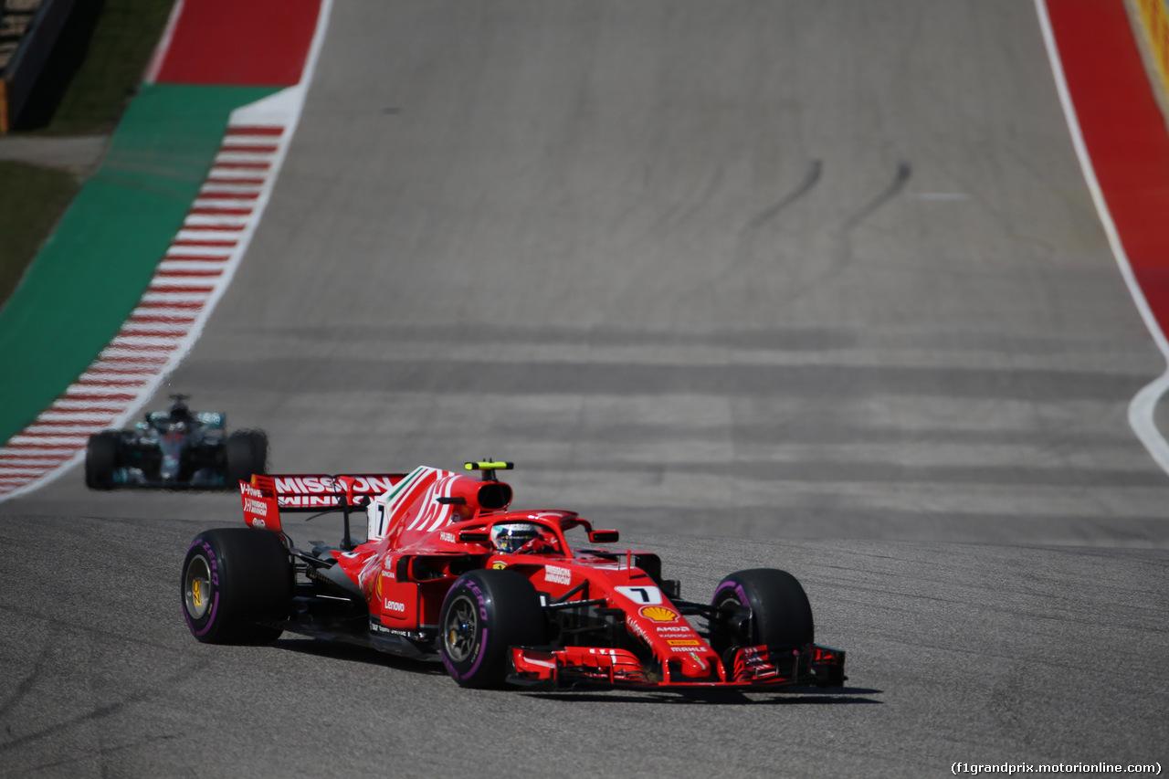 GP USA, 21.10.2018- Gara, Kimi Raikkonen (FIN) Ferrari SF71H