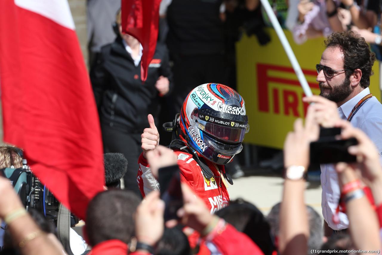 GP USA, 21.10.2018- Parc ferme winner Kimi Raikkonen (FIN) Ferrari SF71H