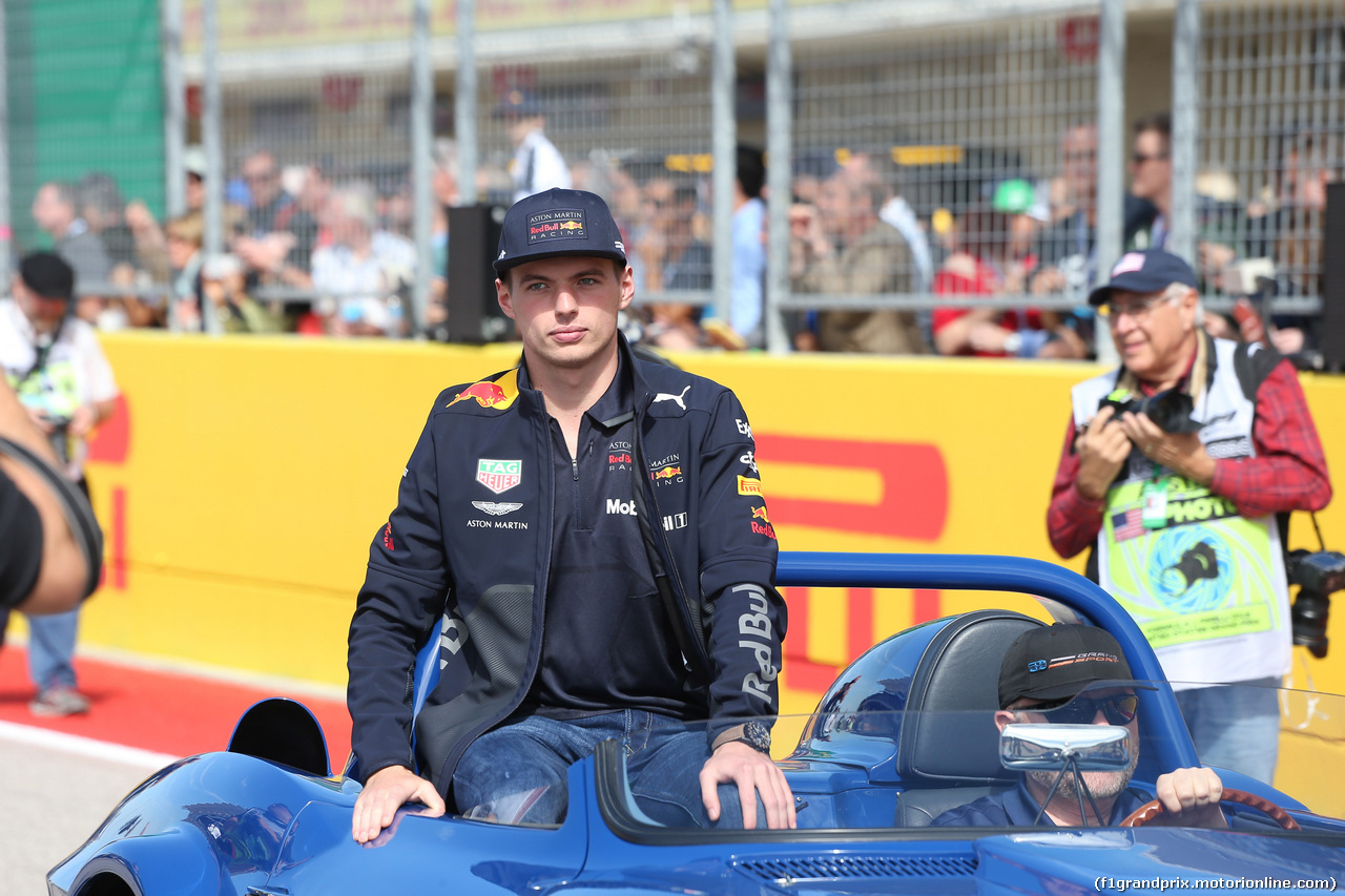 GP USA, 21.10.2018- driver parade, Max Verstappen (NED) Red Bull Racing RB14