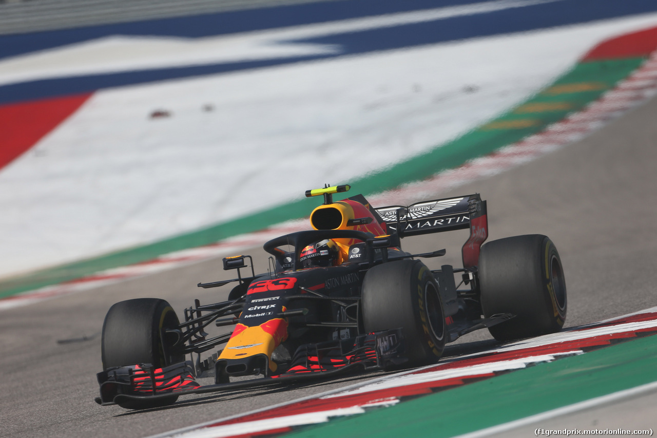 GP USA, 21.10.2018- Gara, Max Verstappen (NED) Red Bull Racing RB14