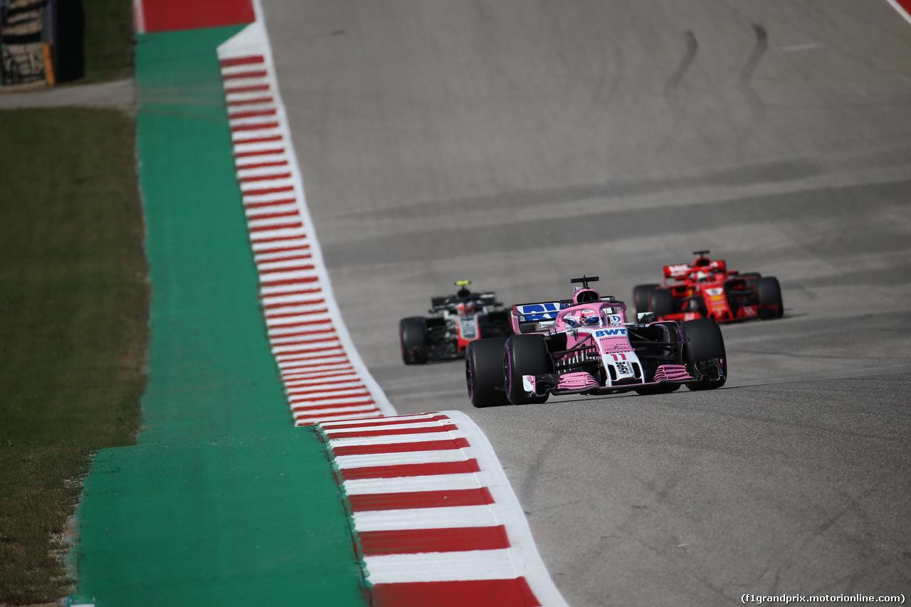 GP USA, 21.10.2018- Gara, Sergio Perez (MEX) Racing Point Force India F1 VJM11