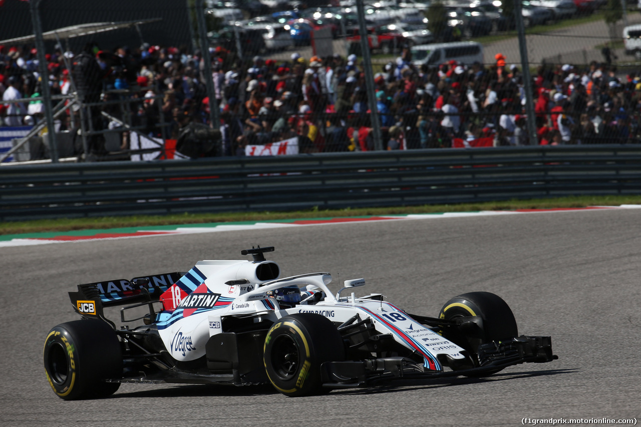 GP USA, 21.10.2018- Gara, Lance Stroll (CDN) Williams FW41