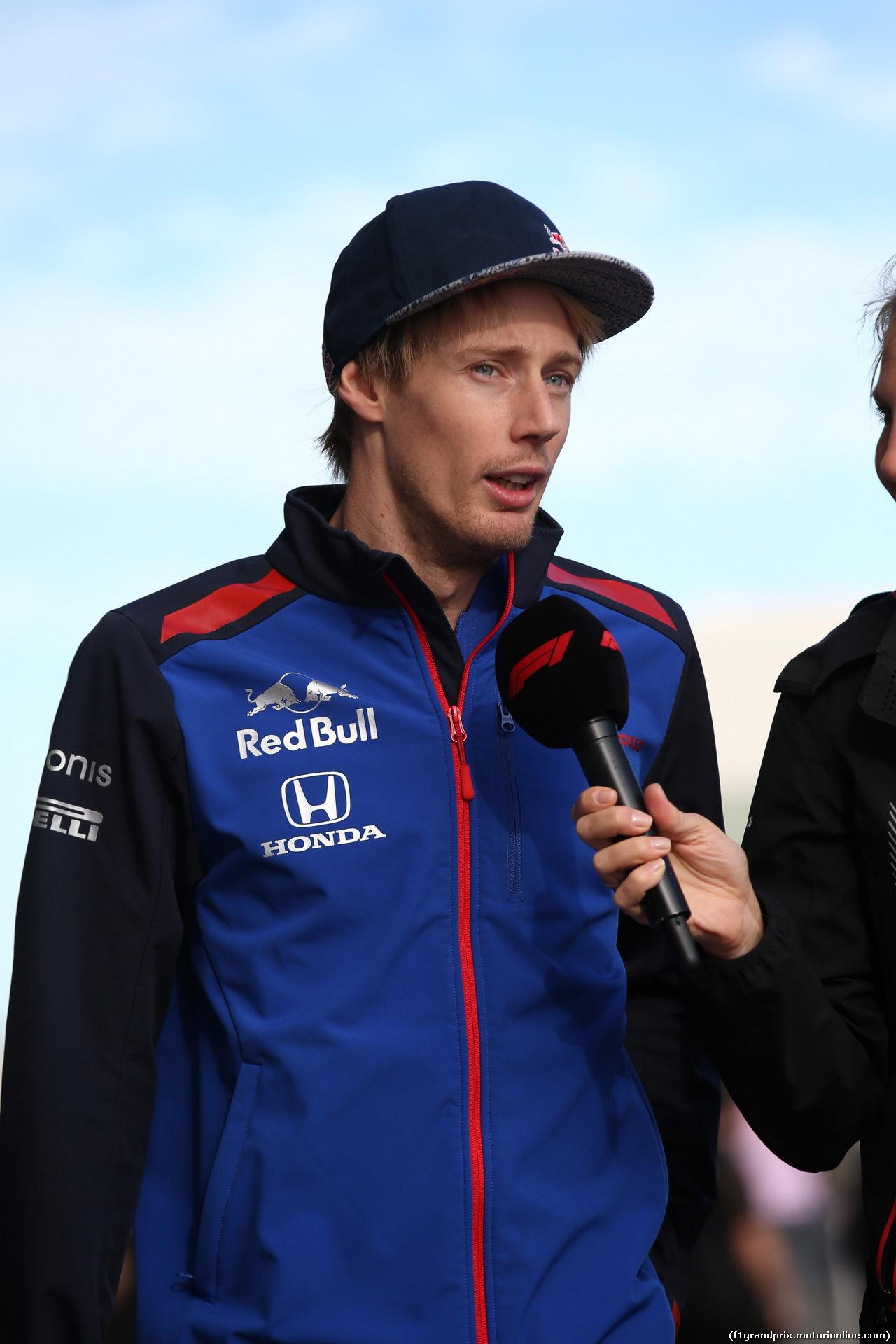 GP USA, 21.10.2018- driver parade, Brendon Hartley (FRA) Scuderia Toro Rosso STR13