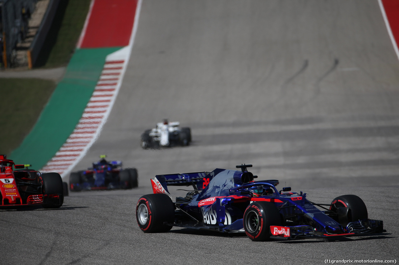 GP USA, 21.10.2018- Gara, Brendon Hartley (FRA) Scuderia Toro Rosso STR13