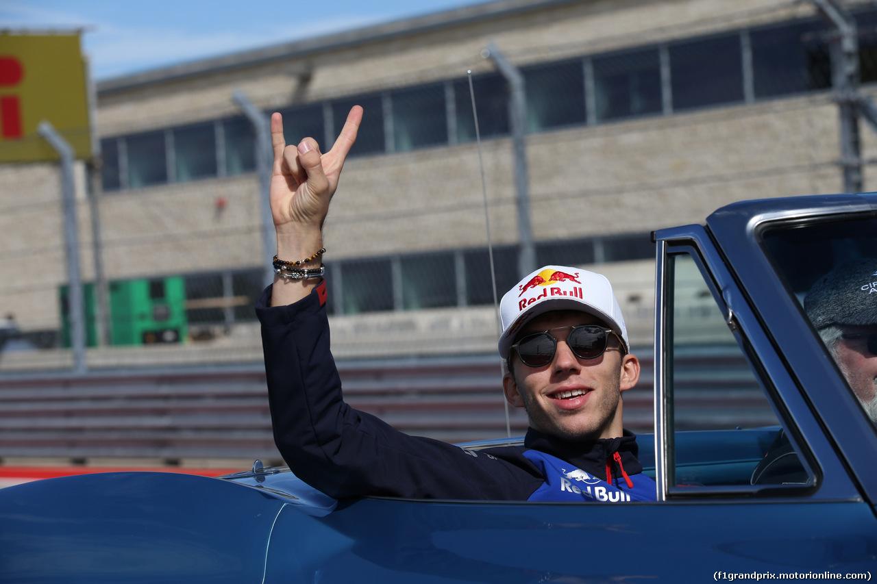 GP USA, 21.10.2018- driver parade,  Pierre Gasly (FRA) Scuderia Toro Rosso STR13