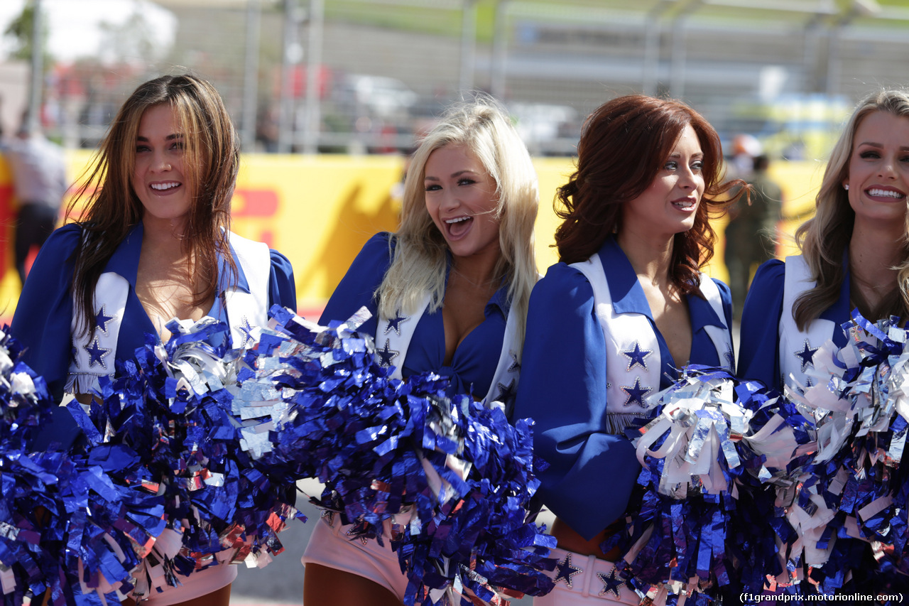 GP USA, 21.10.2018- cheerleaders