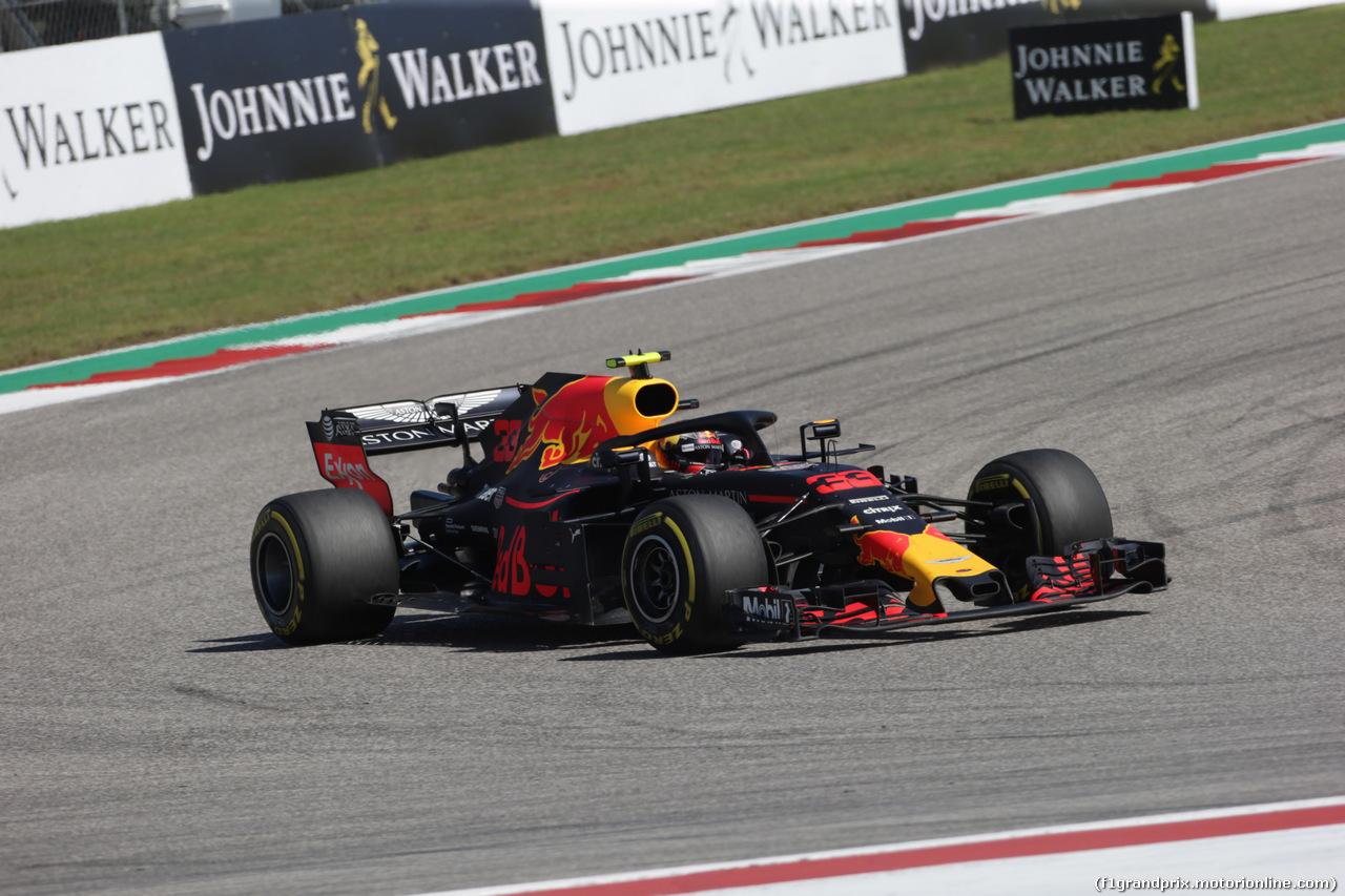 GP USA, 21.10.2018- Gara, Max Verstappen (NED) Red Bull Racing RB14