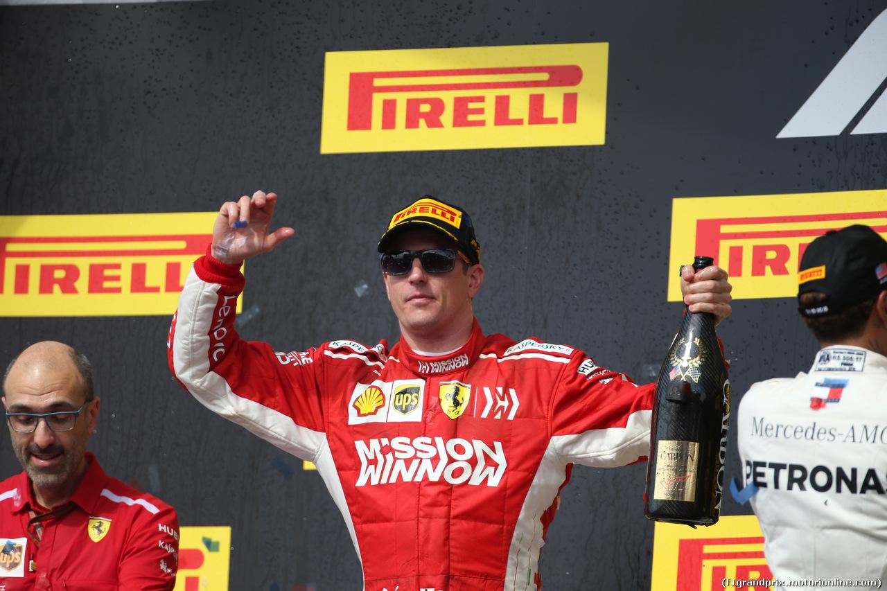 GP USA, 21.10.2018- podium, winner Kimi Raikkonen (FIN) Ferrari SF71H