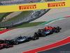 GP USA, 21.10.2018- Gara, Kimi Raikkonen (FIN) Ferrari SF71H overtaking Lewis Hamilton (GBR) Mercedes AMG F1 W09