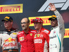 GP USA, 21.10.2018- podium, winner Kimi Raikkonen (FIN) Ferrari SF71H, 2nd place Max Verstappen (NED) Red Bull Racing RB14 e 3rd place Lewis Hamilton (GBR) Mercedes AMG F1 W09