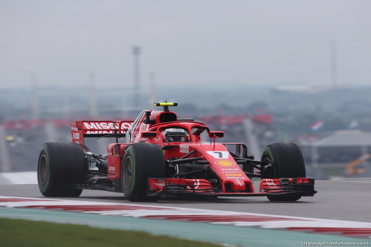 GP USA, 19.10.2018- free Practice 1, Kimi Raikkonen (FIN) Ferrari SF71H